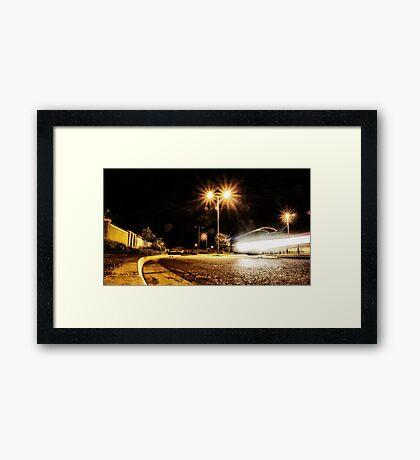 Cars Hiss By Framed Print