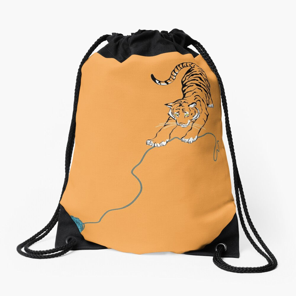 Big Kitty Drawstring Bag