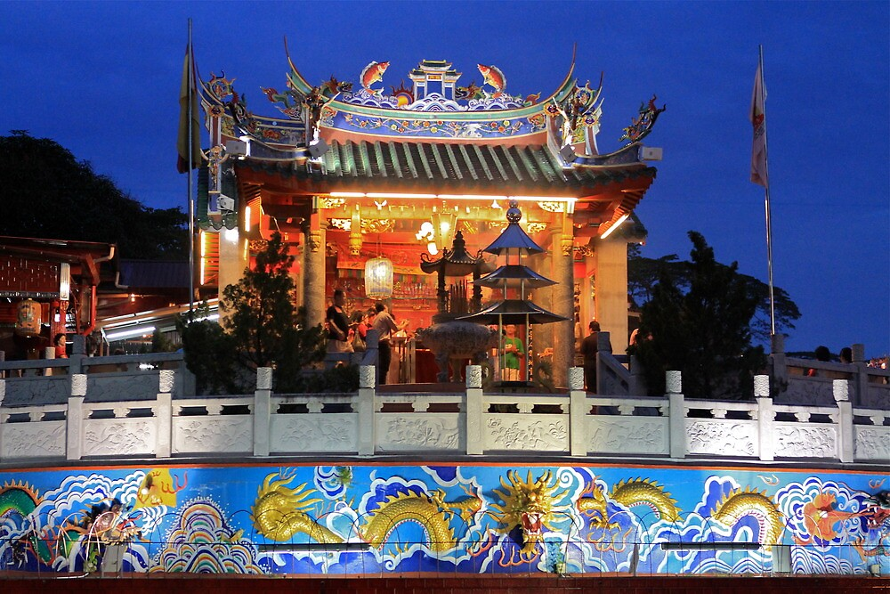 Temple in Kuching by styles