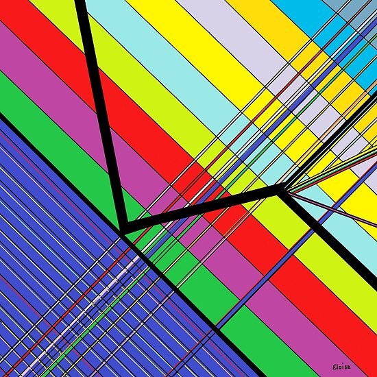 Diagonal Color - Abstract by EloiseArt