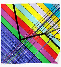 Diagonal Color - Abstract Poster