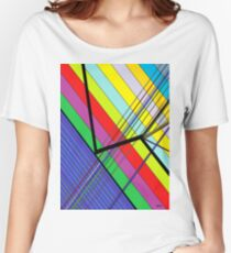 Diagonal Color - Abstract Women's Relaxed Fit T-Shirt