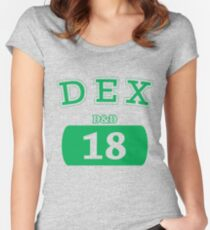 Varsity D&D - DEX 18 Women's Fitted Scoop T-Shirt