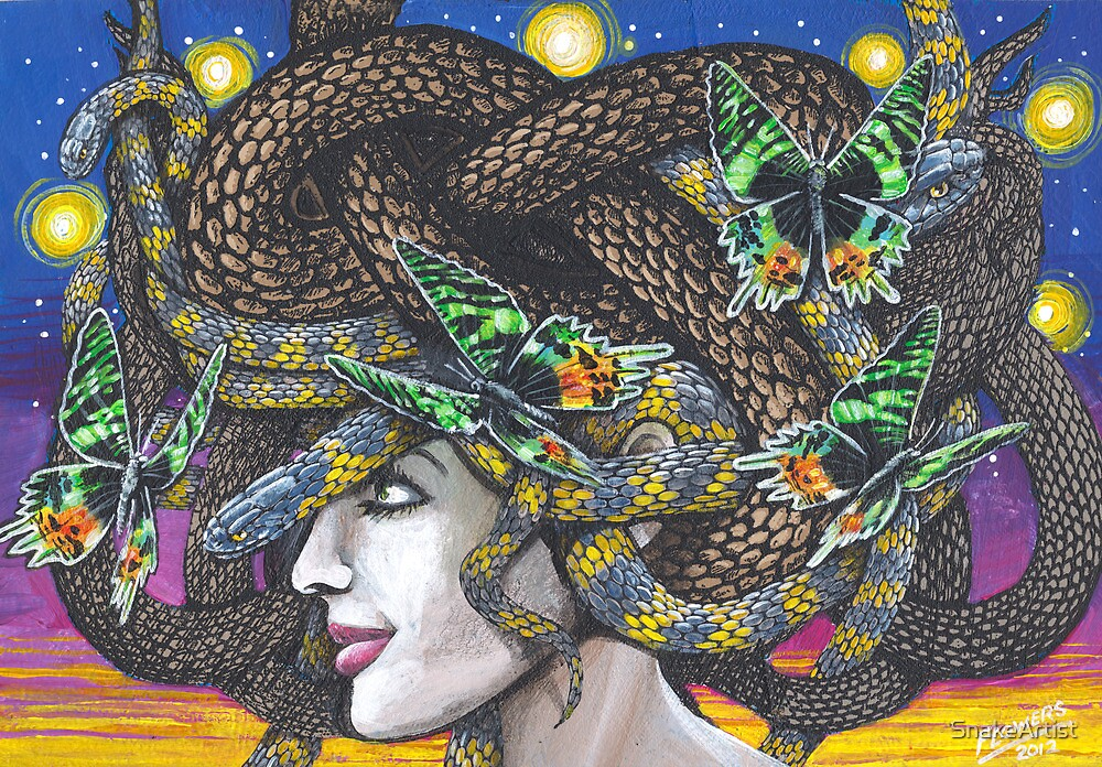 Green ButterFlies by SnakeArtist