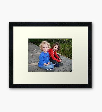 Sitting Still for Grandma Framed Print