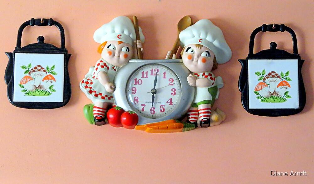 Lunch Time...Vintage Clock by Diane Arndt
