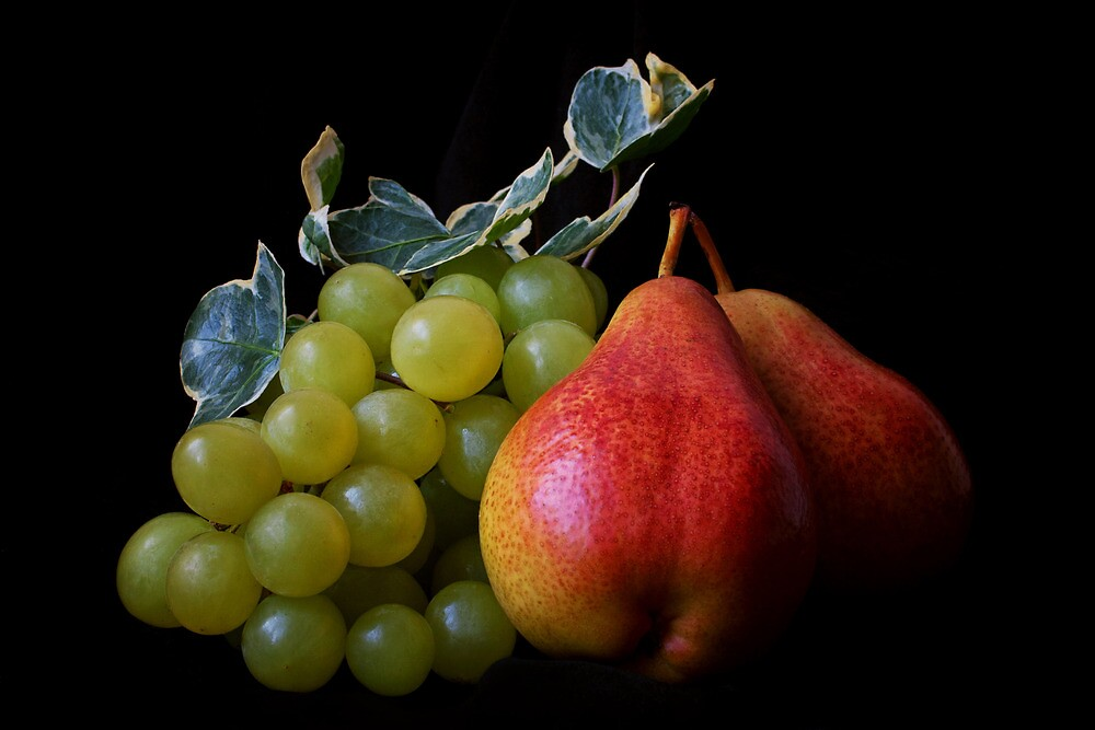 Grapes and Pears by Ellesscee