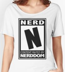 Rated N for Nerd (Black) Women's Relaxed Fit T-Shirt
