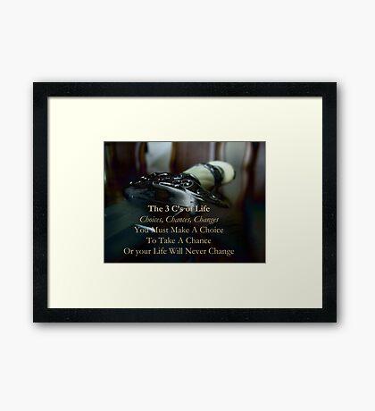 The 3 C's of Life Framed Print