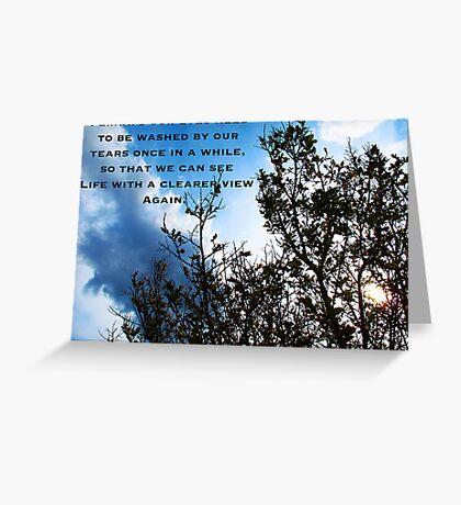 Wipe those Tears Greeting Card
