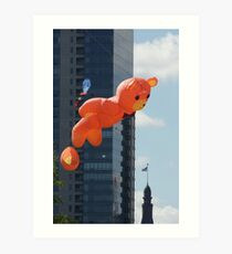 Flying Bear Watches Over City of Milwaukee Art Print