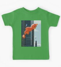 Flying Bear Watches Over City of Milwaukee Kids Tee