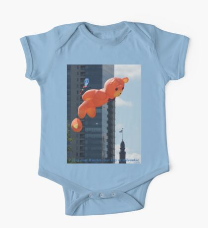 Flying Bear Watches Over City of Milwaukee Kids Clothes