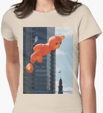 Flying Bear Watches Over City of Milwaukee Womens Fitted T-Shirt