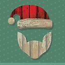Reclaimed Barnwood Santa by Wetasaurus