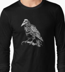 Skelecrow (black and white version) Long Sleeve T-Shirt