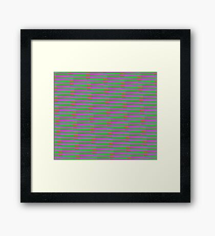 Interference Pattern Framed Print