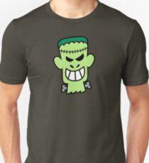 Naughty Halloween Frankenstein Slim Fit T-Shirt