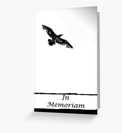 "flying into the unknown ""in memoriam"" Greeting Card"