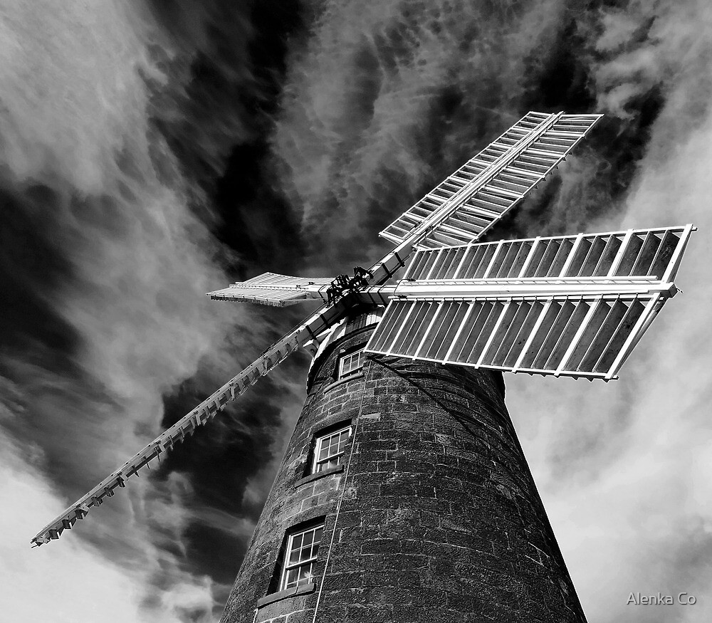 and all the while the windmill slowly turns, dragging in the vortex of darkness by Alenka Co
