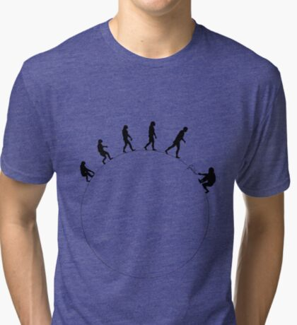 99 steps of progress - Science Tri-blend T-Shirt