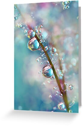 Rainbow Blue Smokey Drops by Sharon Johnstone