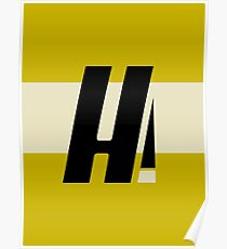 Hyperion Heroism Yellow Poster