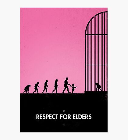 99 steps of progress - Respect for elders Photographic Print