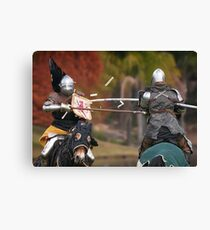 Medieval Magic - Jousting on Target Canvas Print