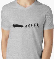 99 steps of progress - Time travel Men's V-Neck T-Shirt