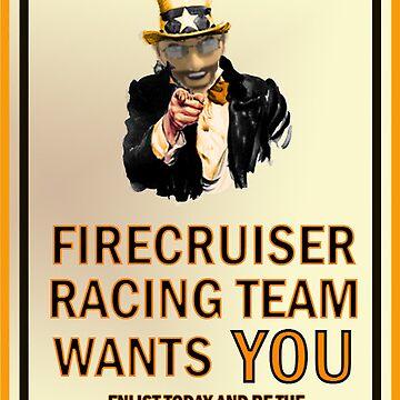 Firecruiser Racing Team Recruitment by covamalia