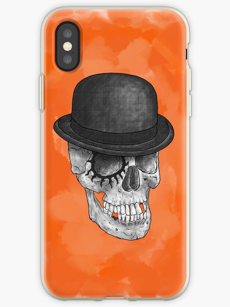 Clockskull orange - iPhone case by Heretic