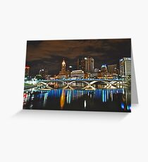 Columbus skyline at night - Columbus, Ohio Greeting Card