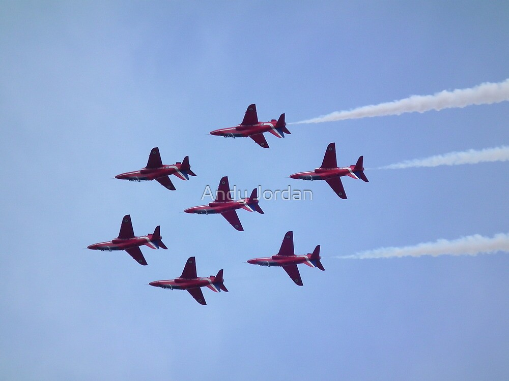 Inverted Red Arrows by Andy Jordan
