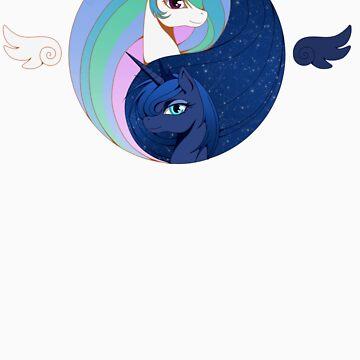 Celestia &  Luna by eeveemastermind
