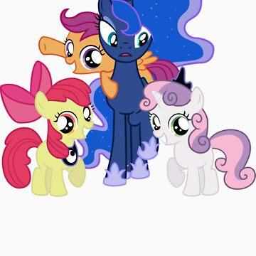 Luna and The Crusaders  by eeveemastermind
