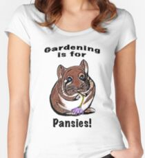 Gardening is for Pansies Women's Fitted Scoop T-Shirt