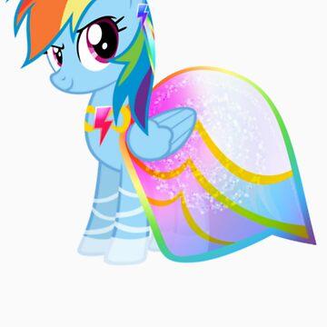 Rainbow Dash In A Gown  by eeveemastermind
