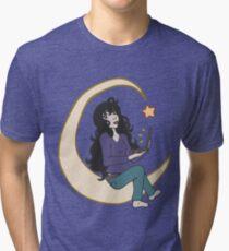 Laptop Star - Black Hair Tri-blend T-Shirt