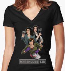 Warehouse 13 girls Women's Fitted V-Neck T-Shirt
