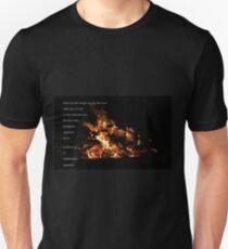 Vuur en vlam Unisex T-Shirt