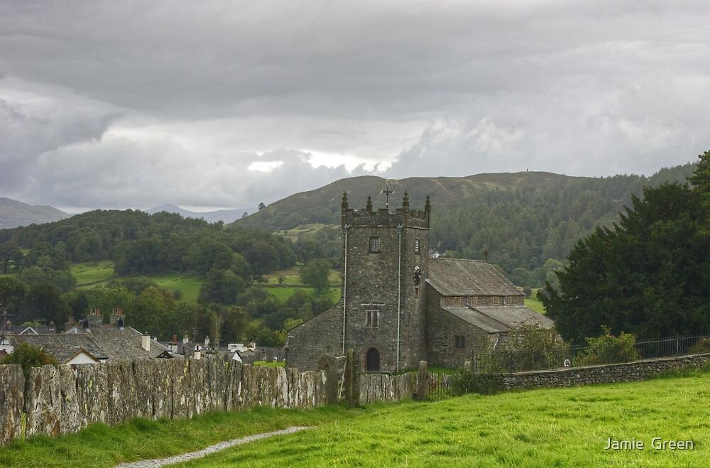 Hawkshead Parish Church by Jamie  Green