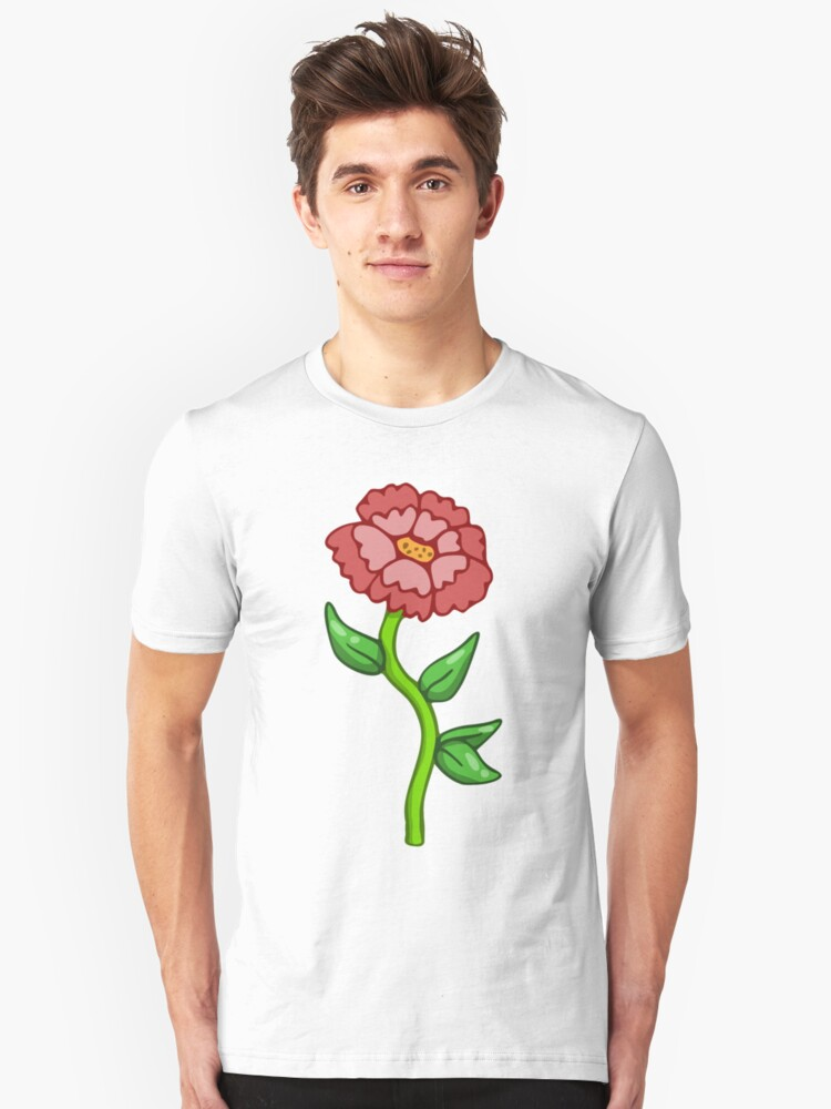 Single Red Flower  Unisex T-Shirt Front