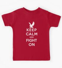 Keep Calm And Fight On 9/11 Tribute Memorial American Patriotic T Shirt Kids Tee