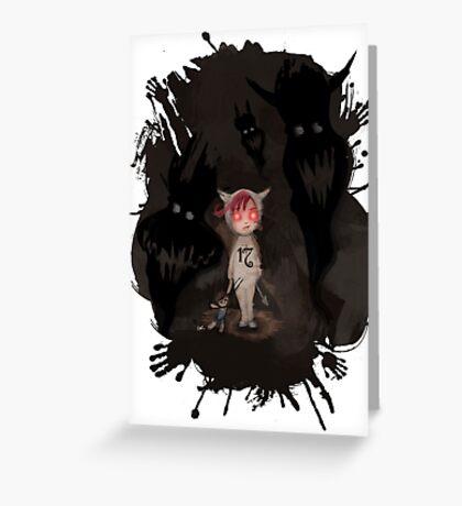 Girl 17 | She Likes the Dark :[ splatter edition. Greeting Card