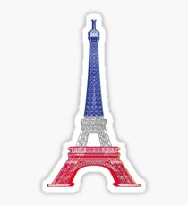 Eiffel Tower French Flag Sticker