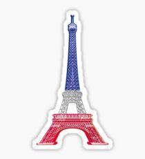 Eiffel Tower French Flag Sticker