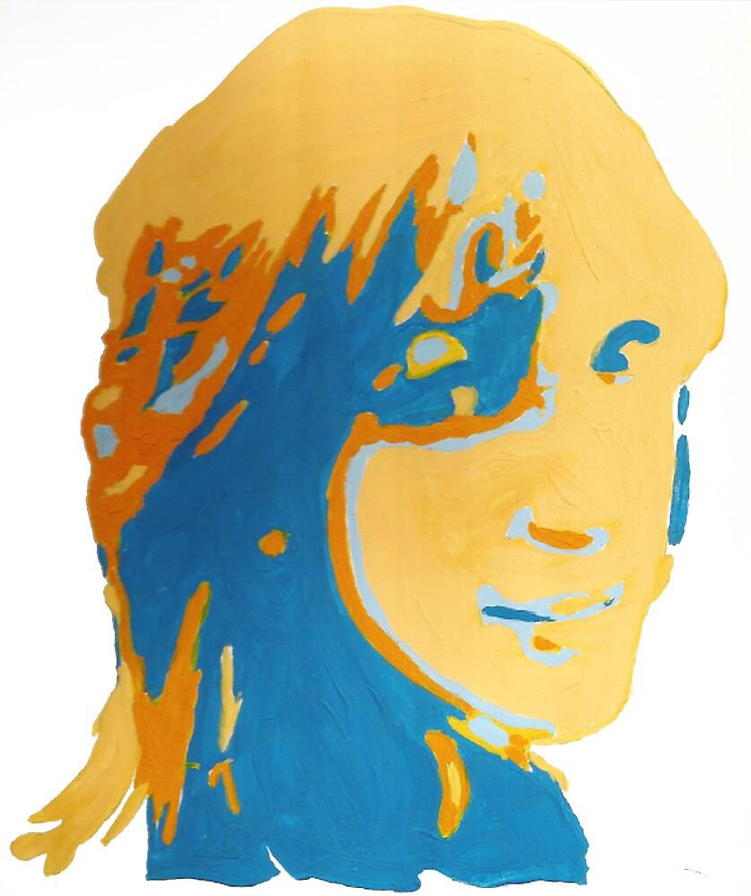 Girl in gouache by Brandon  Bader