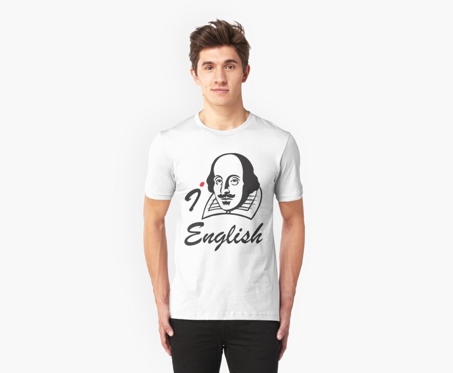 I LOVE ENGLISH T-shirt by ethnographics