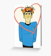 First Officer Spock Valentine Greeting Card